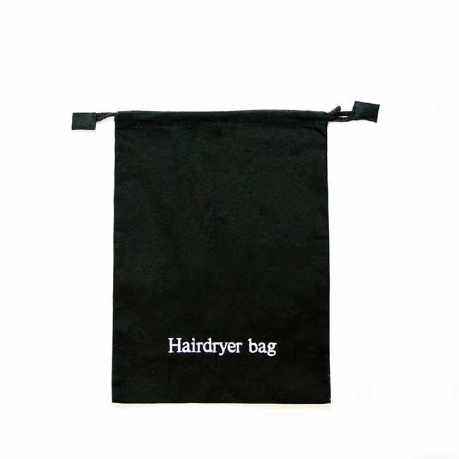 Hair Dryer Storage Bag Cotton Adjustable Drawstring