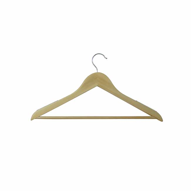 Wood-hangers clothes with rubber grip teeth