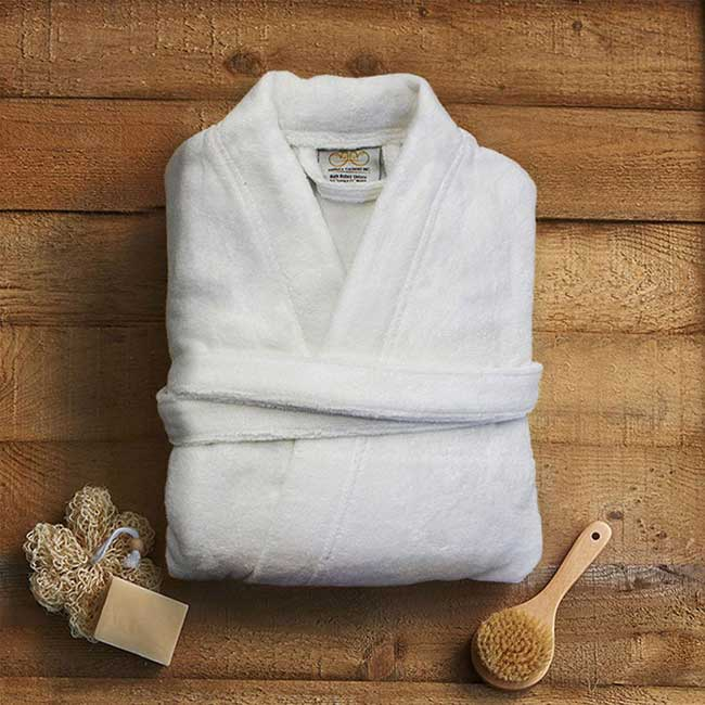Pure 100% Organic Cotton Bathrobe