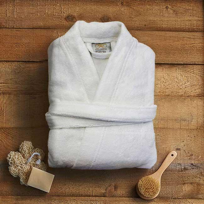 Pure 100% Organic Cotton Bathrobe