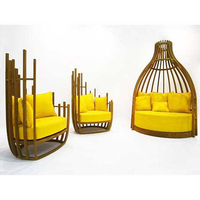 Wooden Chair bottle style