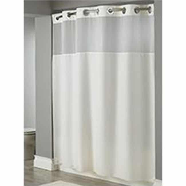 Shower Curtain Hookless Illusion White