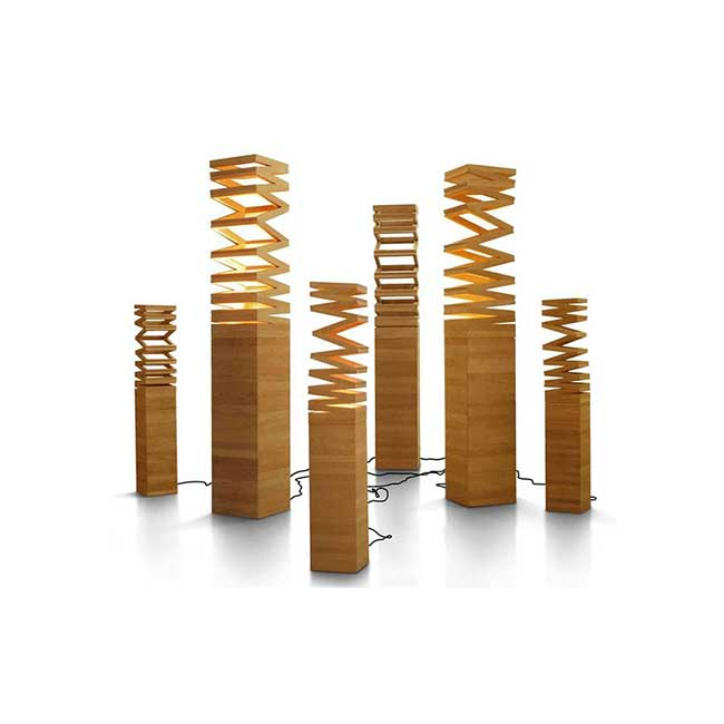 Eco Friendly Floor Lamp Teak wood