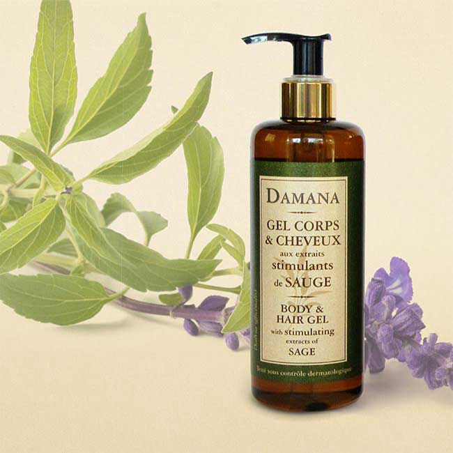 Hair Gel with stimulating extracts of Sage Damana