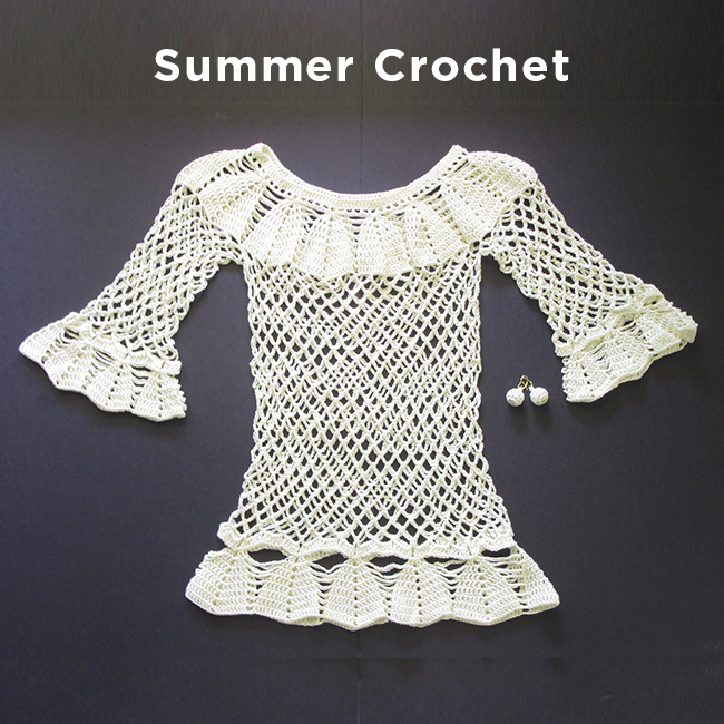 Crochet Blouse long Sleeve handmade