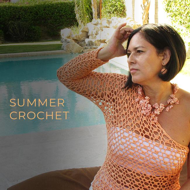 Asymmetrical one shoulder crochet top