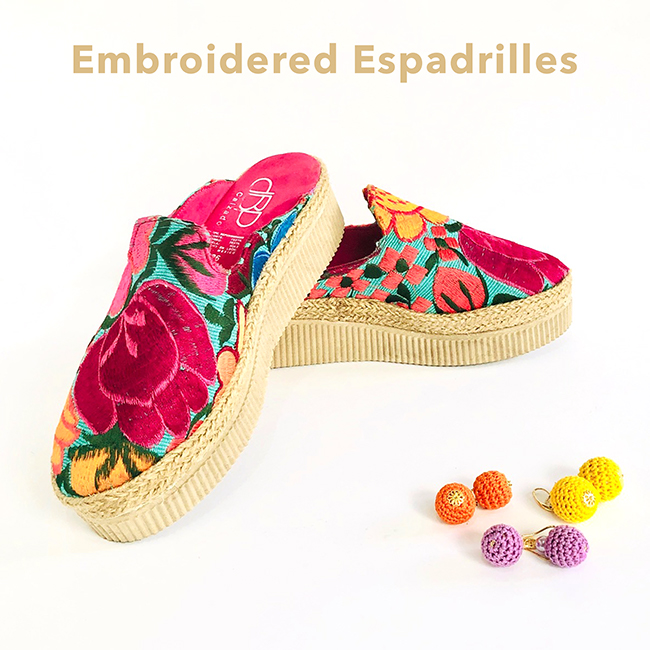 Embroidered Floral Espadrille