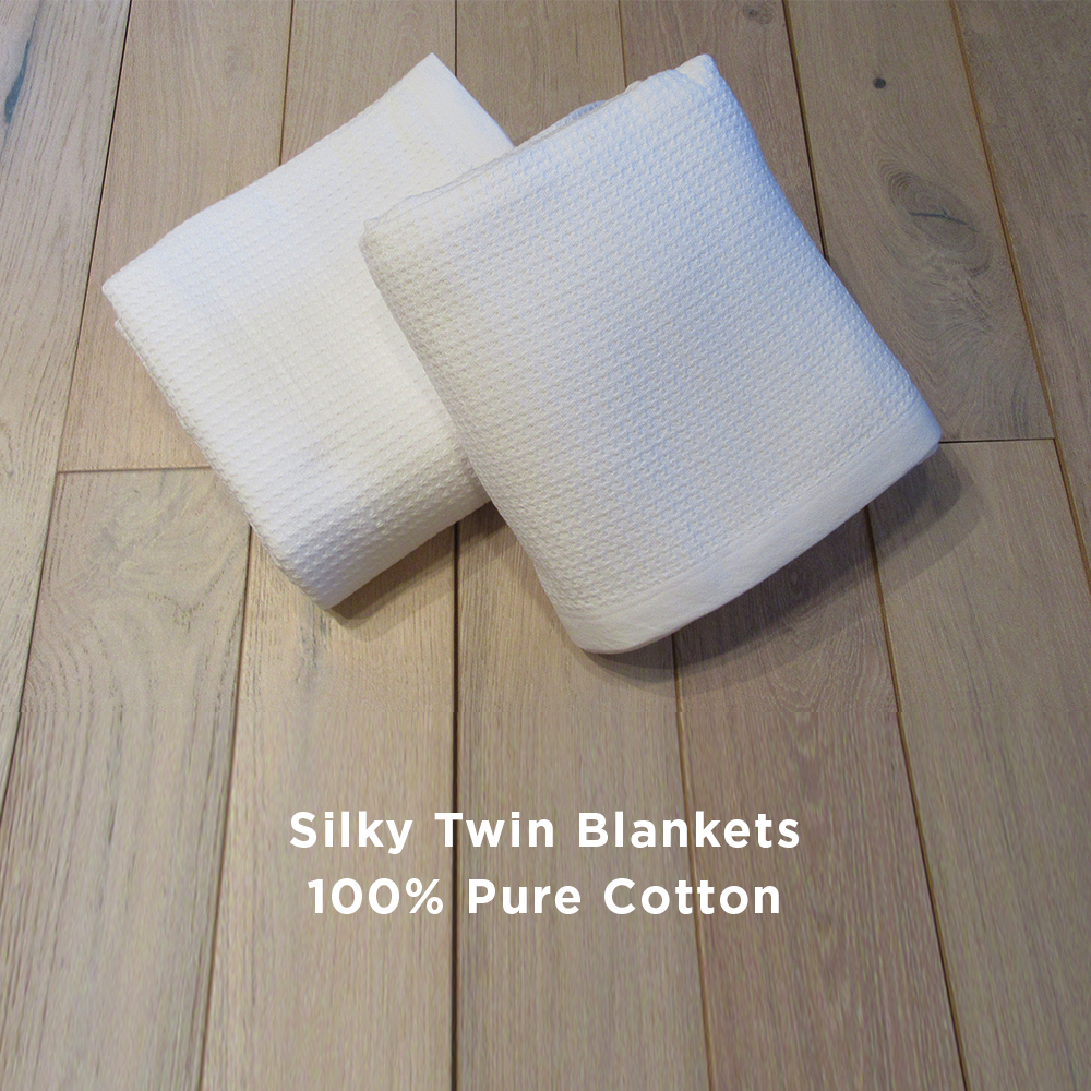 Silky Twin Blankets 100% Pure Cotton