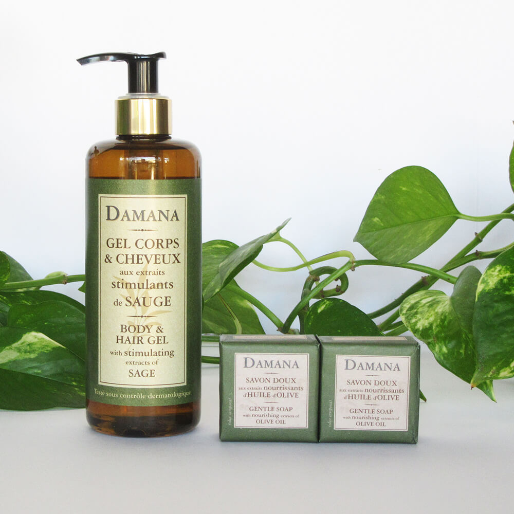 Gentle Soap & Gel contains sage-olive oil extracts